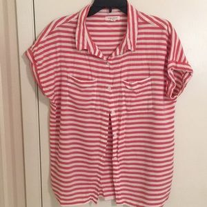 Button up striped top by Beach lunch lounge